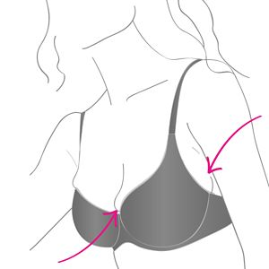 Image of Does your bra spill at the front?