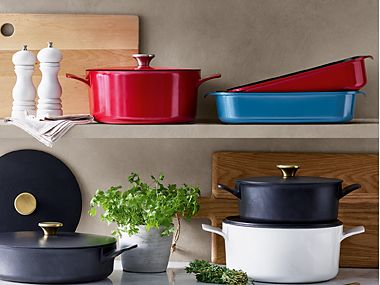 Selection of casserole dishes