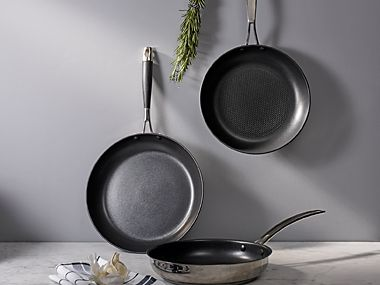 Selection of frying pans