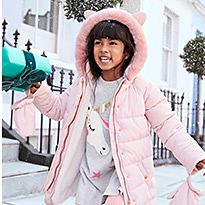 Girl wearing M&S Coat