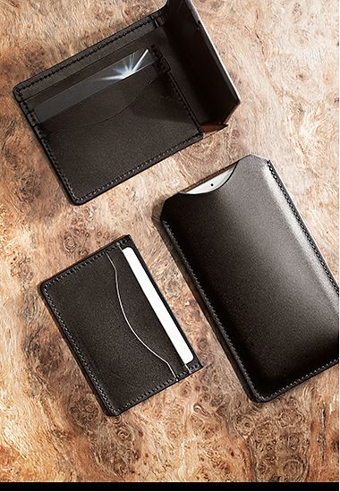 Men's wallet, card holder and phone pouch