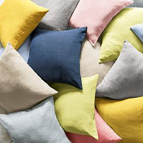 Cushions in a range of colours