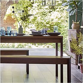 Baltimore dining table and benches