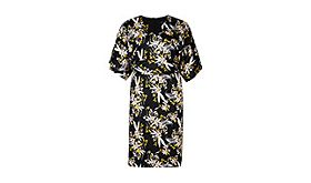 Ochre floral-print dress