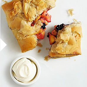 Blackberry and Marizpan parcels recipe