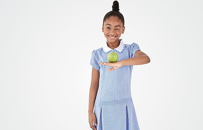 Girl wearing M&S Kids School Uniform
