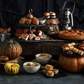 Selection of Halloween party food