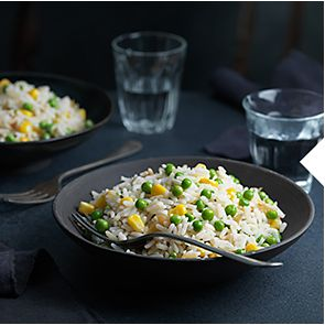 A bowl of microwaveable rice