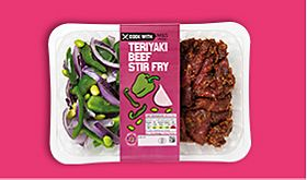 Cook with M&S teriyaki beef stir fry