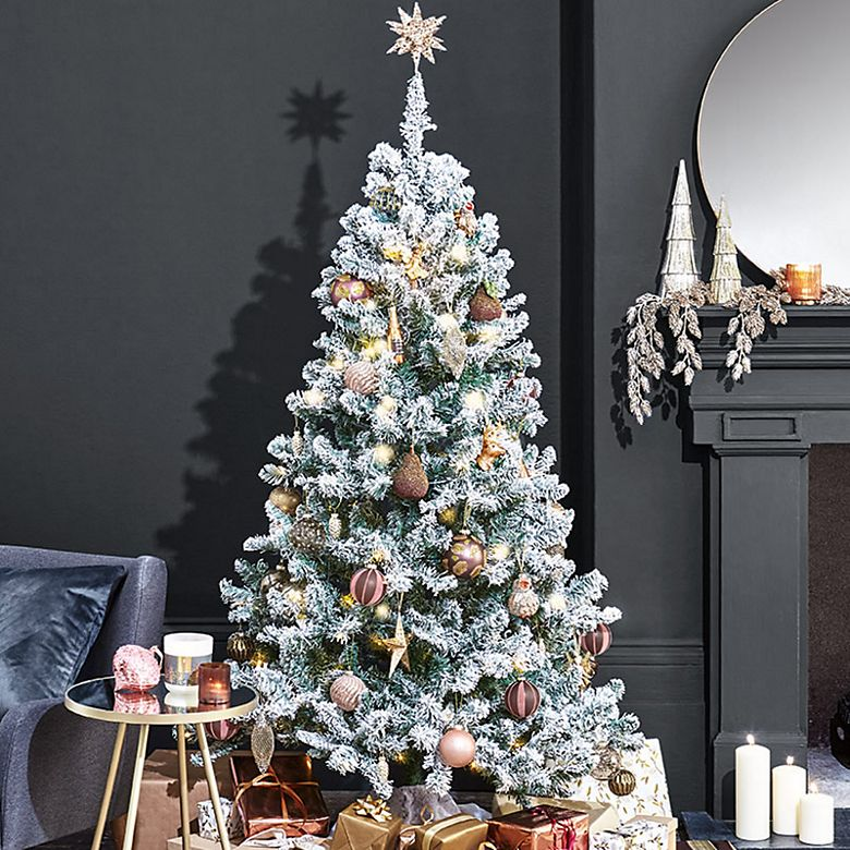 Christmas tree decorated in a metallic theme