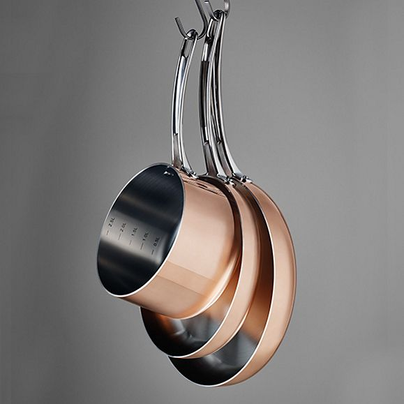 Stainless-steel pans from our cookware collection
