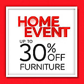Home Event up to 30% off banner