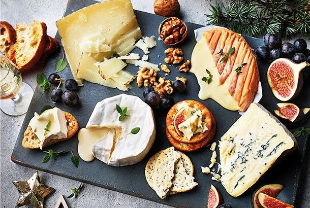 Selection of continental cheeses