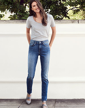 Womens White Jeans Bootcut