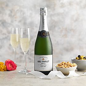 Abel charlot champagne with nuts and olives