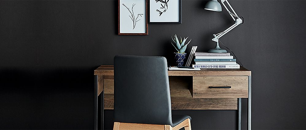 Baltimore Wooden Desk And Desk Chair With Home Office Accessories