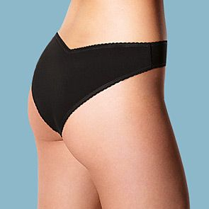 Woman wearing black Miami knickers