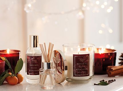 Scented candles, reed diffusers and room spray