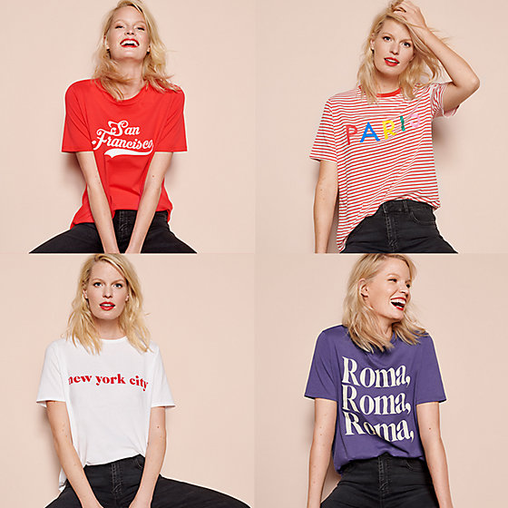 Ladies Womens GIVE IN TO ME PARIS print slogan casual short sleeve T Shirt Top
