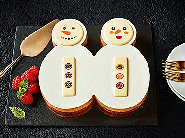 Jolly and Holly the snowmen dessert