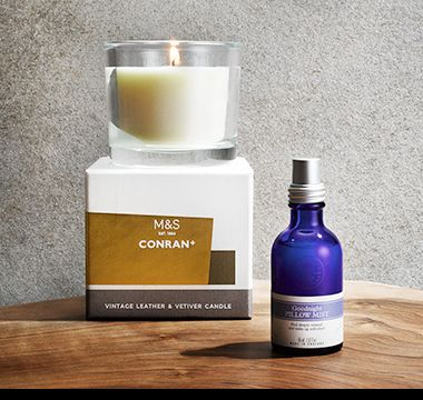 Conran scented candle and Neal's Yard pillow spray