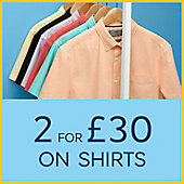 A rail of men's short sleeve casual shirts of various colours