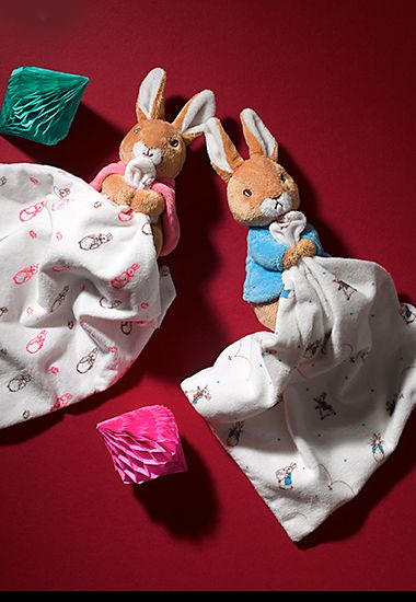 M&S Peter Rabbit and Flopsy Rabbit comforters for babies