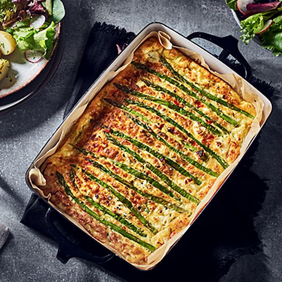 Chris Baber's asparagus and feta frittata