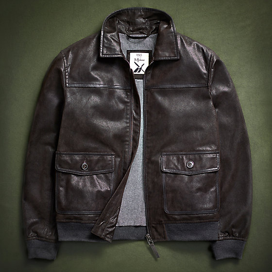 22fb538ece72 Mens leather jacket called the Marksman to commemorate 100 years of the RAF