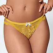 Woman wearing ochre colour knicker