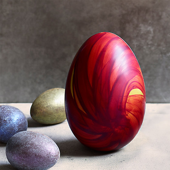 Marks spencer luxury easter egg a hand painted red easter egg with shimmering lustred mini eggs negle Gallery