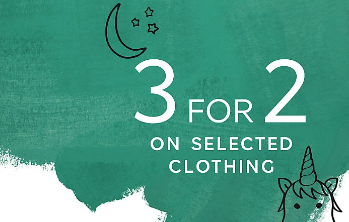 3 For 2 Offer on Selected Kids Clothing