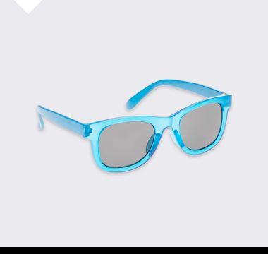 Kids' blue UV-protection sunglasses