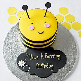 Personalised Stripe the Bumblebee Cake