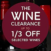 Wine Clearance – Up to 1/3 off