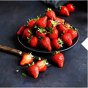 A bowl of Red Diamond strawberries