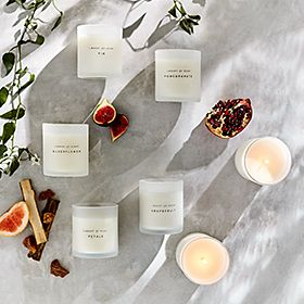 Scented candles with fruits