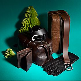 Selection of men's leather accessories