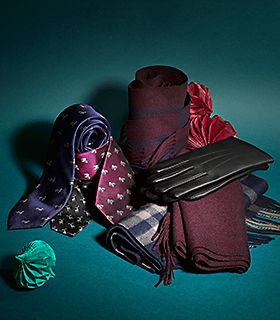 Selection of men's accessories