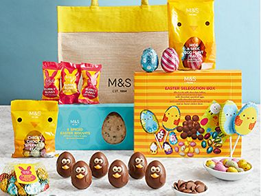 A colourful selection of Easter chocolate treats