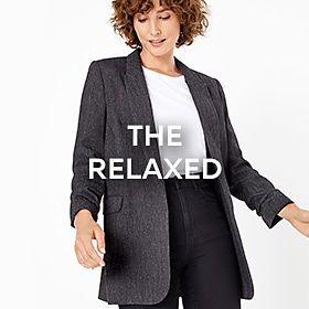 Woman wearing relaxed blazer