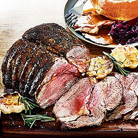 Roast beef with sides