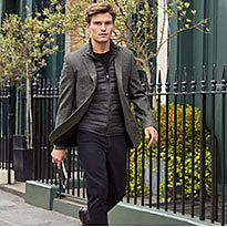 Oliver Cheshire wearing a grey M&S blazer