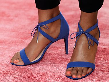 Pair of cobalt-blue heels