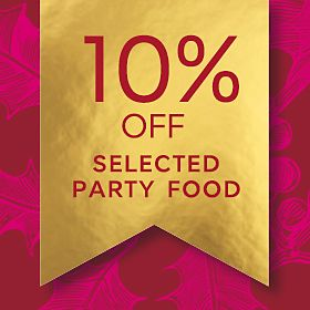 10% off selected party food graphic