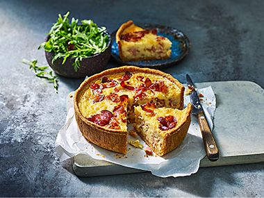Our Best Ever quiche Lorraine with a green salad