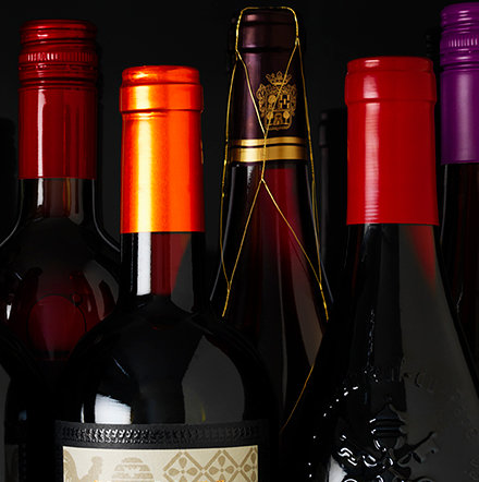 A selection of wine bottles