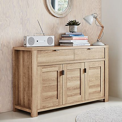 Arlo three-door wooden sideboard
