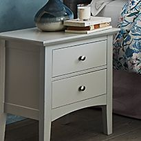 Hastings Grey bedside table