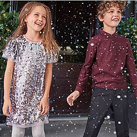 Kids wearing M&S Partywear